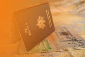Paspoort met kaart van Stickman