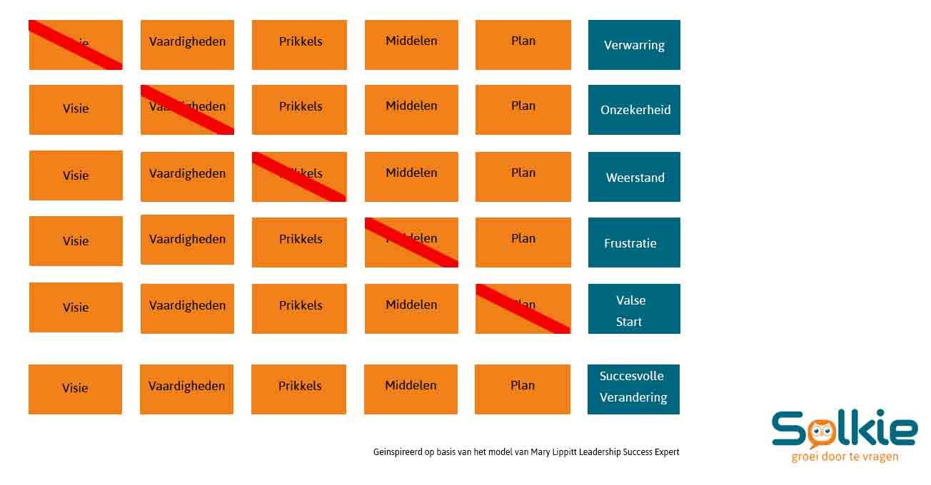 Mary Lippitt model, organisatieveranderingen, Solkie, Groei door te vragen
